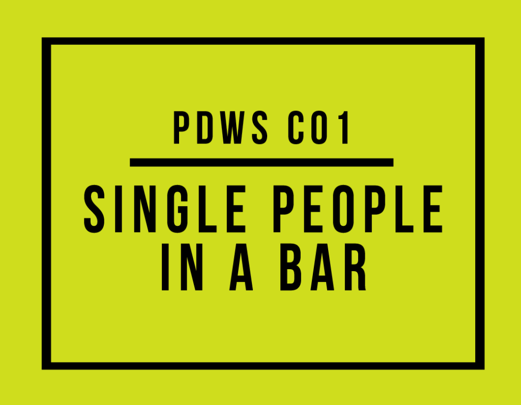 PDWS Chapter 1 - Single People in a Bar